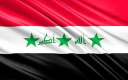 Bandeira de Iraque ilustração do vetor