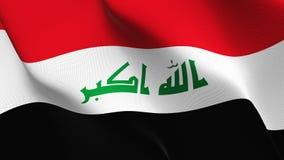 Bandeira de Iraque que acena no vento ilustração royalty free
