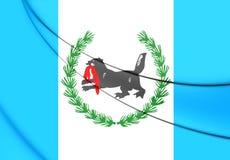 Bandeira de Irkutsk Oblast, Rússia Fotografia de Stock Royalty Free