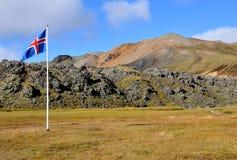 Bandeira de Islândia Imagem de Stock