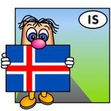 A bandeira de Islândia Fotografia de Stock