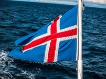 Bandeira de Islândia Imagens de Stock Royalty Free