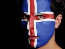 Bandeira de Islândia Fotografia de Stock