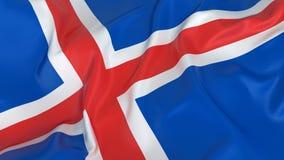 Bandeira de Islândia Fotos de Stock