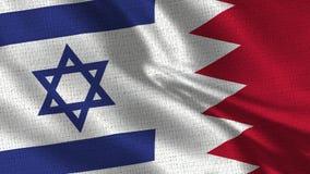Bandeira de Israel e de Barém - bandeira dois junto fotos de stock royalty free