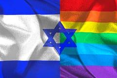 Bandeira de Israel e de LGBT Imagem de Stock