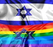 Bandeira de Israel e de LGBT Foto de Stock Royalty Free