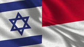 Bandeira de Israel e de Mônaco - duas bandeiras junto fotografia de stock