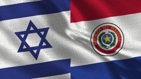 Bandeira de Israel e de Paraguai - duas bandeiras junto foto de stock royalty free