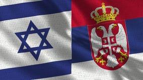 Bandeira de Israel e de Sérvia - duas bandeiras junto fotos de stock royalty free