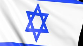 Bandeira de Israel nas ondas