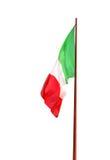 A bandeira de Itália isolou-se no fundo branco Fotografia de Stock Royalty Free