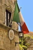 Bandeira de Italy fotos de stock royalty free