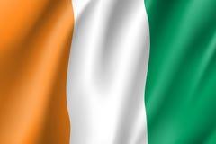 Bandeira de Ivoire do ` da costa d Costa do Marfim ilustração royalty free