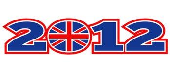 Bandeira de Jack de união de Londres 2012 Ingleses Fotos de Stock Royalty Free