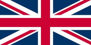 Bandeira de Jack de união Reino Unido ilustração do vetor