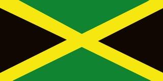 Bandeira de Jamaica Fotografia de Stock
