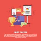 Bandeira de Job Career Professional Occupation Web Fotos de Stock Royalty Free