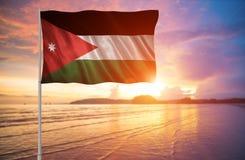 Bandeira de Jordânia Imagens de Stock