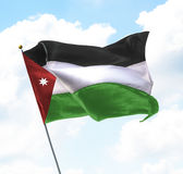 Bandeira de Jordão Fotografia de Stock