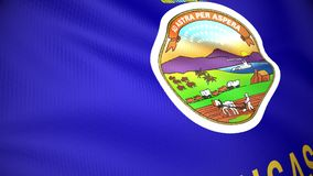 Bandeira de Kansas ilustração stock