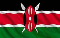 Bandeira de Kenya Imagens de Stock