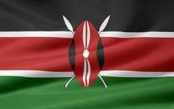 Bandeira de Kenya Fotografia de Stock Royalty Free