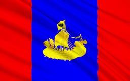 Bandeira de Kostroma Oblast, Federação Russa ilustração stock