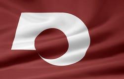 Bandeira de Kumamoto - Japão Imagens de Stock Royalty Free