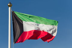 Bandeira de Kuwait Imagens de Stock Royalty Free