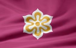 Bandeira de Kyoto - Japão ilustração stock