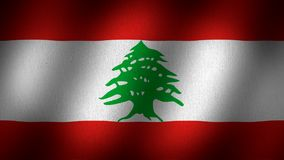 Bandeira de Líbano video estoque