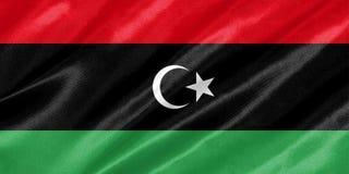Bandeira de Líbia ilustração stock
