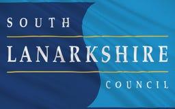 A bandeira de Lanarkshire sul é uma de 32 autoridades unitárias do Sc ilustração do vetor