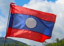 A bandeira de Laos, Ásia Fotos de Stock