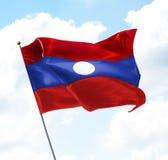 Bandeira de Laos Fotos de Stock