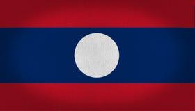 Bandeira de Laos Imagem de Stock Royalty Free