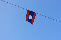 Bandeira de Laos Fotografia de Stock Royalty Free