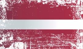 Bandeira de Latvia Pontos sujos enrugados ilustração royalty free