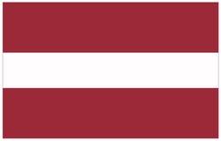 Bandeira de Letónia Foto de Stock