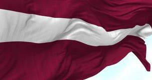 Bandeira de Letónia no vento vídeos de arquivo