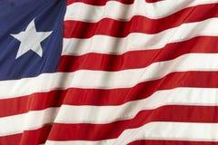 Bandeira de Liberia foto de stock royalty free