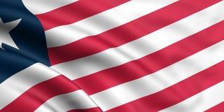 Bandeira de Liberia Fotografia de Stock Royalty Free
