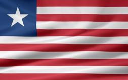 Bandeira de Liberia Imagem de Stock
