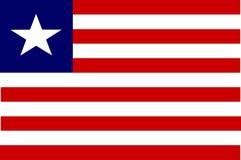 Bandeira de Liberia Foto de Stock