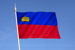 Bandeira de Liechtenstein imagem de stock royalty free