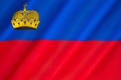 Bandeira de Liechtenstein Fotografia de Stock Royalty Free