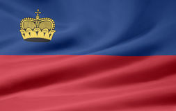 Bandeira de Liechtenstein Fotos de Stock Royalty Free