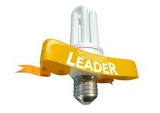 Bandeira de Light Bulb And do líder do pensamento Fotos de Stock