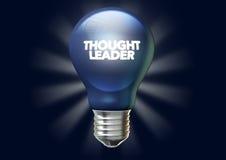 Bandeira de Light Bulb And do líder do pensamento Fotografia de Stock Royalty Free